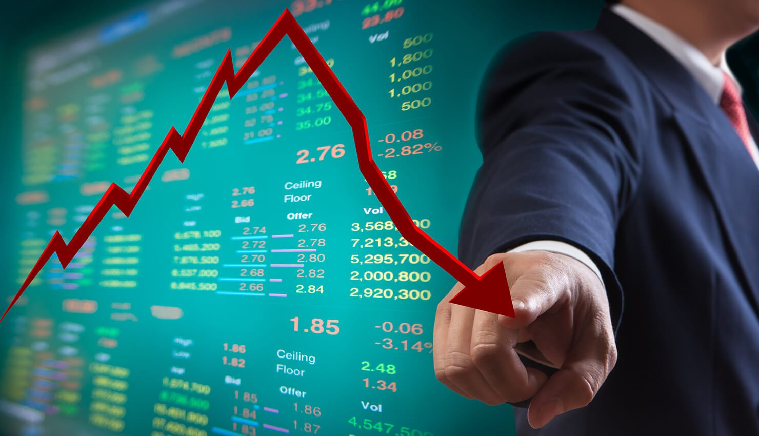 stock market chart - fixed indexed annuities
